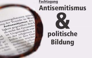 Teaser Fachtagung Antisemitismus und pol. Bildung